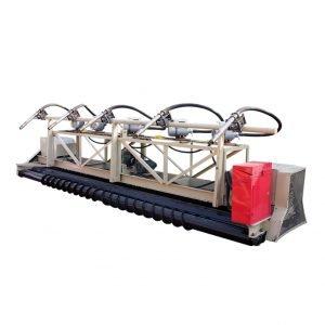 concrete vibrating and paving machine