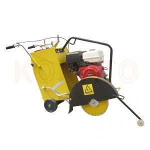 Concrete-floor-cutting with yellow saw